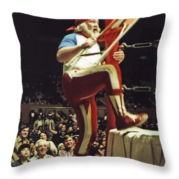 Old School Wrestling From The Cow Palace With Moondog Mayne Throw Pillow