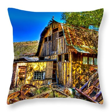 Old Shed Throw Pillow by Jon Berghoff