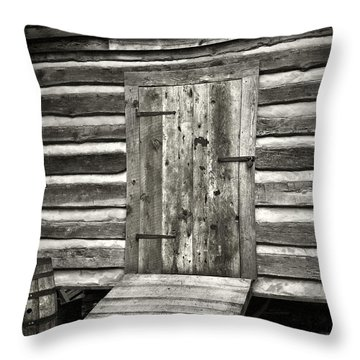 Old Shed Throw Pillow by Patrick M Lynch