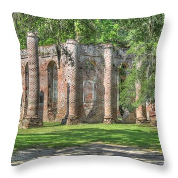 Old Sheldon Church Throw Pillow