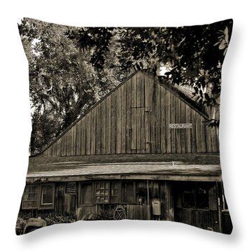 Throw Pillow featuring the photograph Old Spanish Sugar Mill Old Photo by DigiArt Diaries by Vicky B Fuller