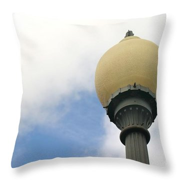 Old Street Light Throw Pillow