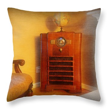 Old Time Radio Throw Pillow by Paul Ward