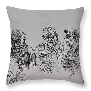 Old-timers  Throw Pillow by Ylli Haruni