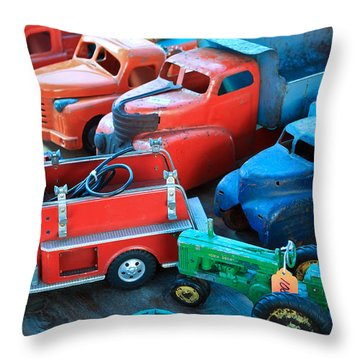 Old Tin Toys Throw Pillow by Steve McKinzie