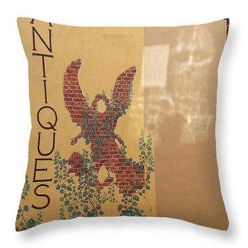 Throw Pillow featuring the photograph Old Town Grants Pass Detail by Mick Anderson