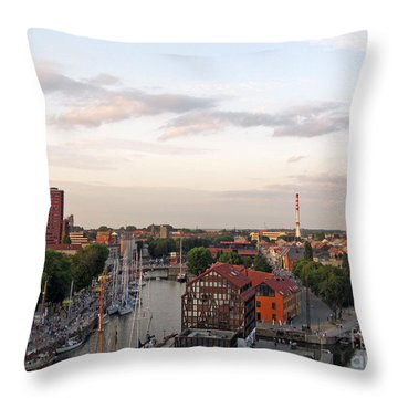 Old Town Klaipeda. Lithuania. Throw Pillow