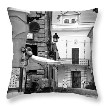 Throw Pillow featuring the photograph Old Town by Pedro Cardona