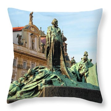 Old Town Square Throw Pillow by Mariola Bitner