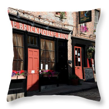 Old Towne Dining Throw Pillow