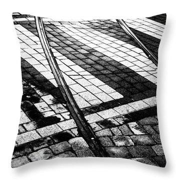 Old Tracks Made New Throw Pillow by Hakon Soreide