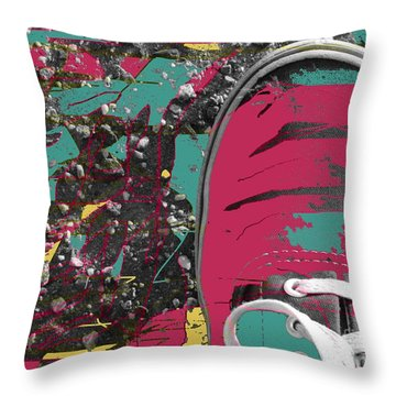 Old Vans Throw Pillow by Everette McMahan jr
