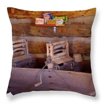 Throw Pillow featuring the photograph Old West 2 by Deniece Platt