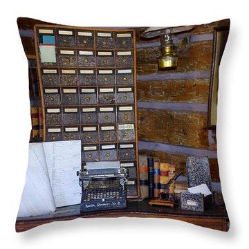 Throw Pillow featuring the photograph Old West 3 by Deniece Platt