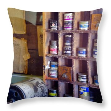 Throw Pillow featuring the photograph Old West 6 by Deniece Platt