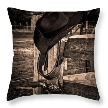Old West Throw Pillow by Doug Long
