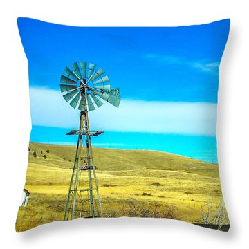 Throw Pillow featuring the photograph Old Windmill by Shannon Harrington