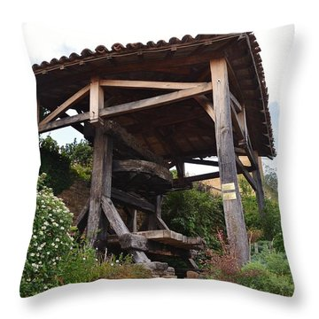 Old Wine Press Throw Pillow by Dany Lison