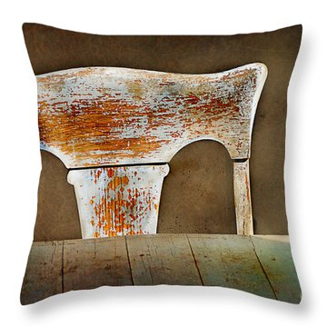 Old Wooden Chair Throw Pillow