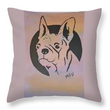 Throw Pillow featuring the painting Ole Fella by Maria Urso