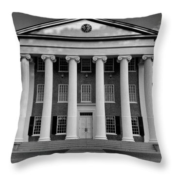 Ole Miss Lyceum Black And White Throw Pillow