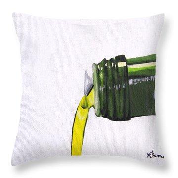 Olive Oil Throw Pillow by Kayleigh Semeniuk