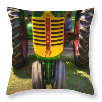 Throw Pillow featuring the photograph Oliver Crop Row 77 by Trey Foerster