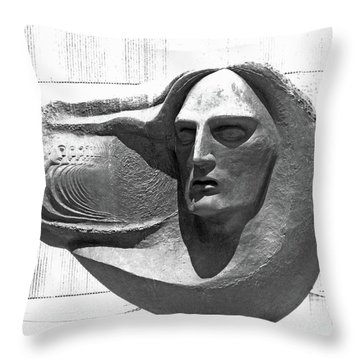 Oliver Pollock Statue  Throw Pillow by Lizi Beard-Ward