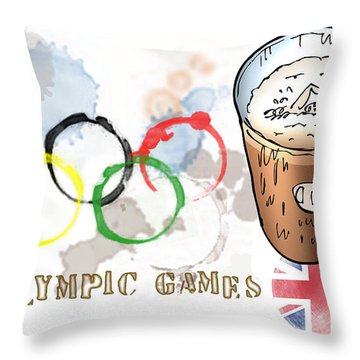 Olympic Rings Throw Pillow by Mark Armstrong