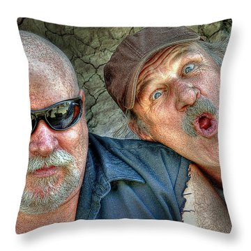 On A Napanee Stoop One Day Throw Pillow