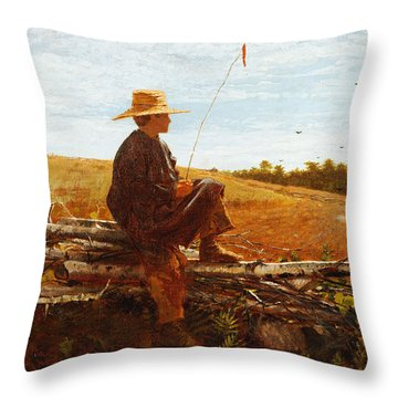 On Guard Throw Pillow by Wisnlow Homer