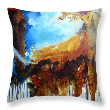 On Safari Throw Pillow