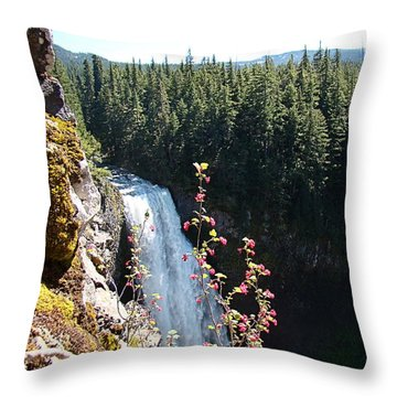 Throw Pillow featuring the photograph On The Brink by Nick Kloepping