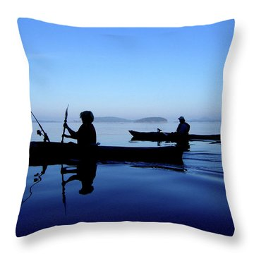 On The Deep Blue Sea Throw Pillow