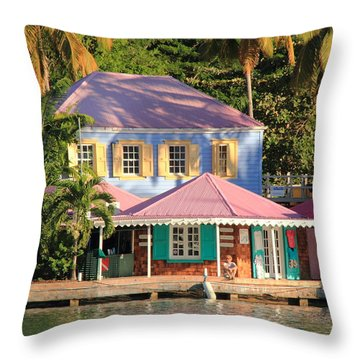 On The Dock Throw Pillow