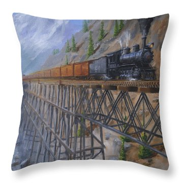 On The High Line Throw Pillow by Christopher Jenkins
