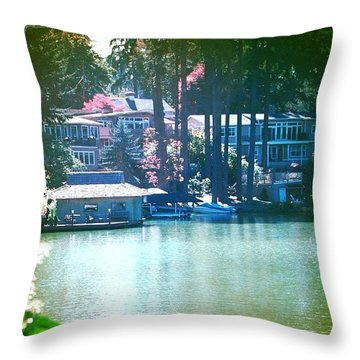 On The Lake - Lake Oswego Or Throw Pillow