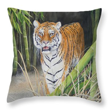 On The Prowl  Sold Prints Available Throw Pillow