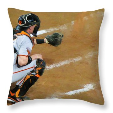 On The Ready Throw Pillow by Diane Wood
