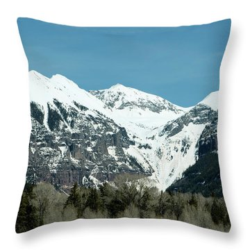 On The Road To Telluride Throw Pillow by Lorraine Devon Wilke