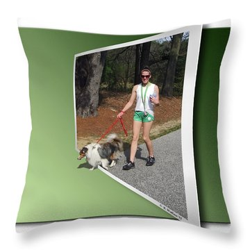 On The Trail Throw Pillow by Brian Wallace