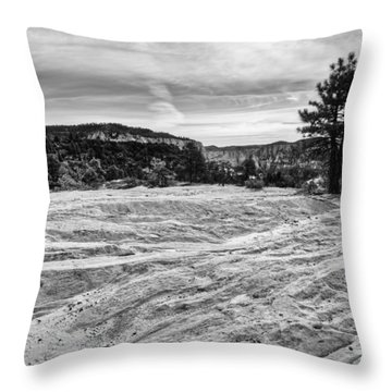On The Way To Subway Throw Pillow by Chad Dutson