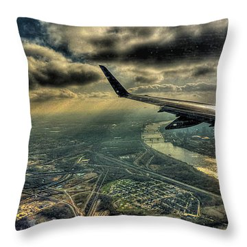 Throw Pillow featuring the photograph On The Wing by William Fields