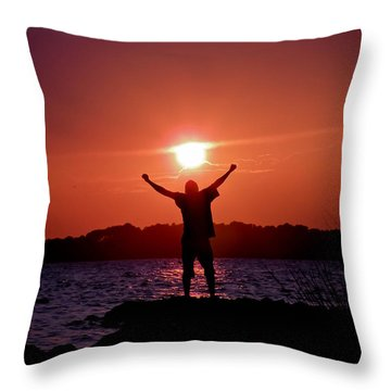 On Top Of The World Throw Pillow by Trish Tritz