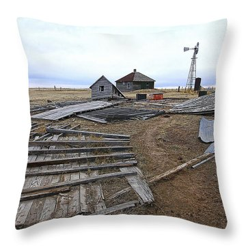 Once There Was A Farm Throw Pillow by James Steele