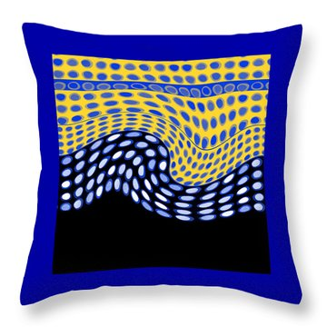One After Another Throw Pillow by Ann Powell