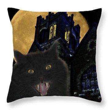 One Dark Halloween Night Throw Pillow by Shane Bechler