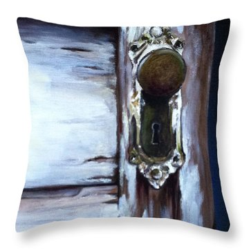 One Good Turn Throw Pillow by Mary Rogers