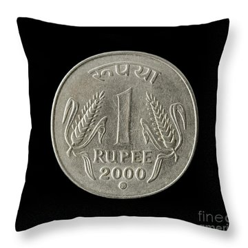 One Indian Rupee  Throw Pillow