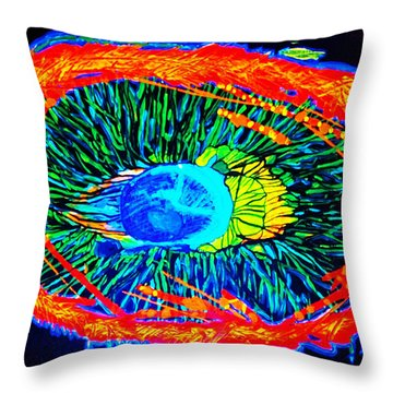 Throw Pillow featuring the painting ONE by Lisa Brandel